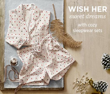 Wish Her Sweet Dreams With Cozy Sleepwear Sets
