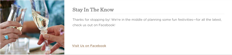 Stay In The Know - Check Us Out On Facebook!