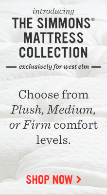 Introducing The Simmons Mattress Collection - Exclusively for west elm