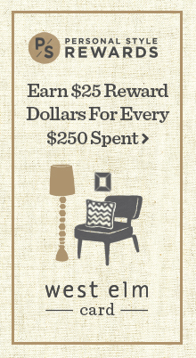 Get 10 Percent Back With Your West Elm Credit Card