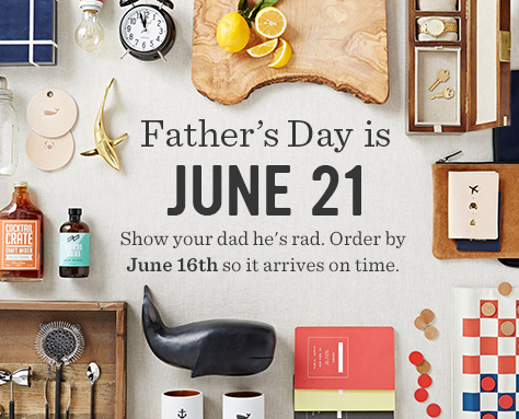 Father's Day is June 21