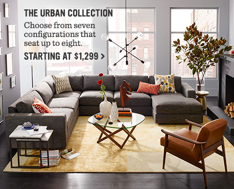 The Urban Collection - Choose from seven configurations that seat up to eight. Starting At $1,299