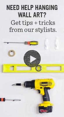 Need help hanging wall art? Get tips + tricks from our stylists.