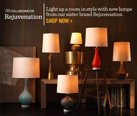 Rejuvenation - Light up a room in style with new lamps from our sister brand Rejuvenation.