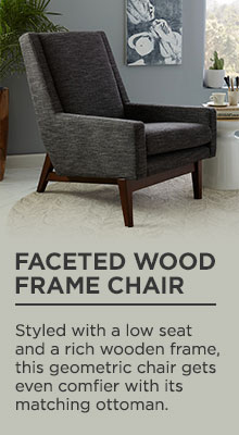 Faceted Wood Frame Chair