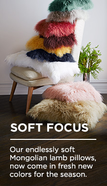 Soft Focus - Mongolian Lamb Pillows