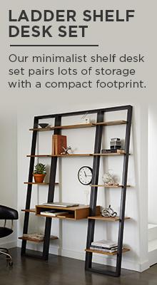 Ladder Shelf Desk Set