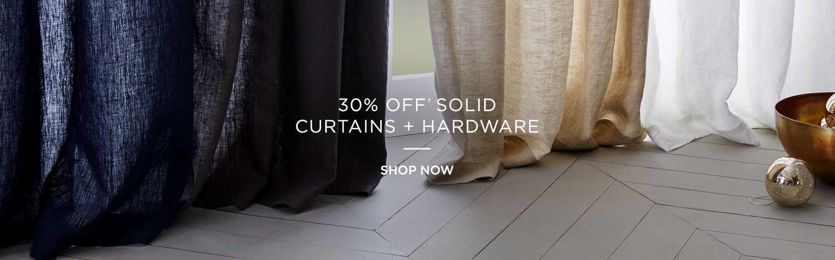 30 Percent Off Solid Curtains + Hardware