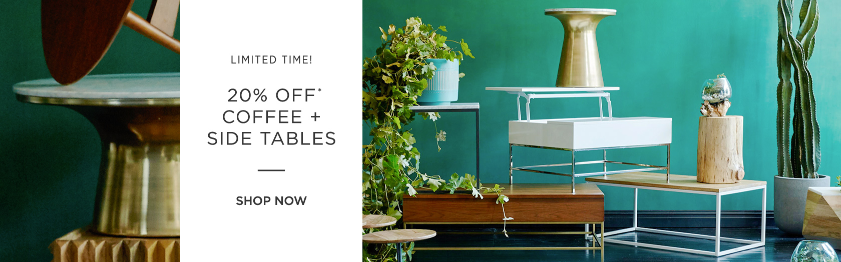 20 Percent Off Coffee + Side Tables