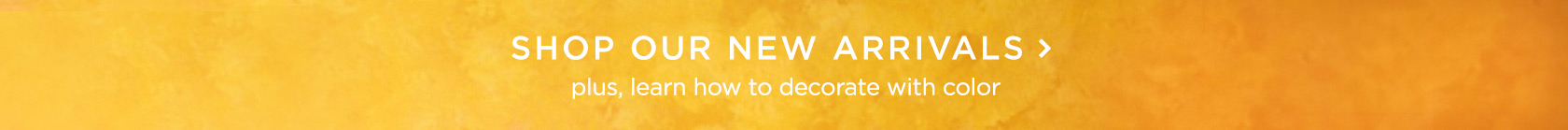 Shop Our New Arrivals! Plus Learn How To Decorate With Color