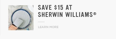 Save $15 At Sherwin Williams