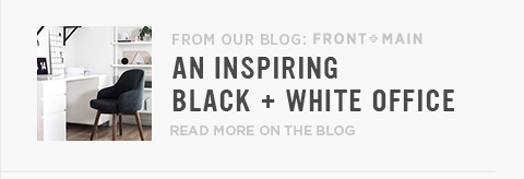From Our Blog Front + Main: An Inspiring Black + White Office