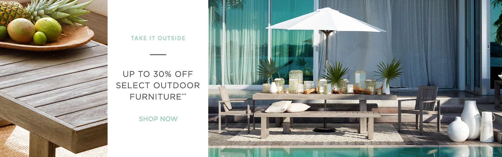 Up To 30 Percent Off Select Outdoor Furniture