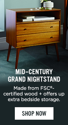 Mid-Century Grand Nightstand