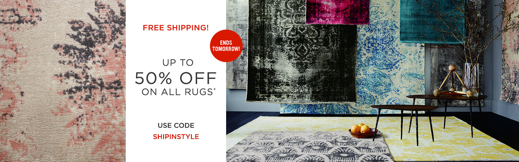 Up To 50 Percent Off All Rugs Plus Free Shipping With Code SHIPINSTYLE
