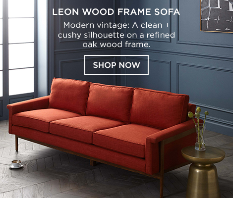 Leon Wood Frame Sofa