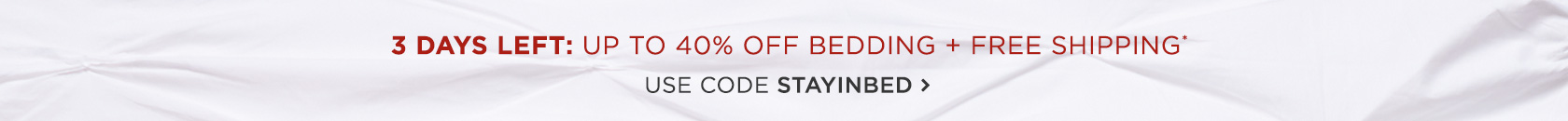 Up To 40 Percent Off Bedding + Free Shipping - Use Code STAYINBED