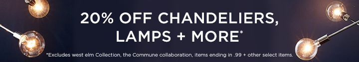 20 Percent Off Chandeliers, Lamps + More