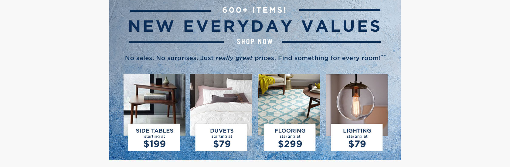 600+ Items! New Everyday Values