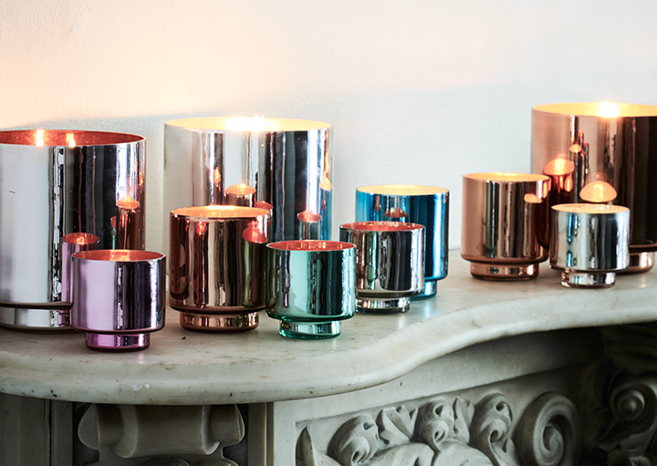 Colored Mercury Candleholders