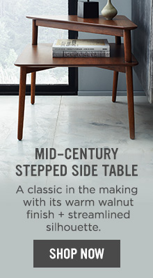 Mid-Century Stepped Side Table