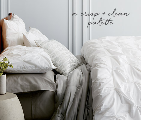 Organic Cotton Bedding - A Crisp + Clean Palette