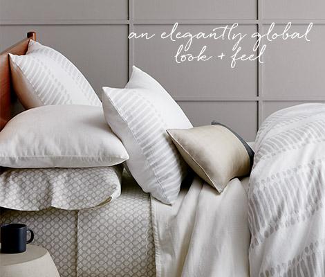 Faded Ikat Stripe Bedding - An Elegantly Global Look + Feel