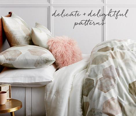 Geo Sateen Bedding - Delicate + Delightful Patterns