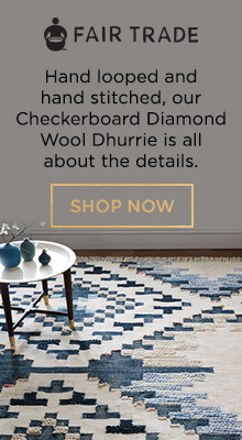 Fair Trade - Our Checkerboard Diamond Wool Dhurrie Is All About The Details