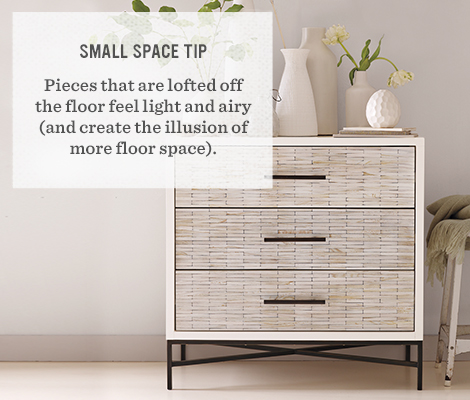 Small Space Tip. Small Dressers   west elm