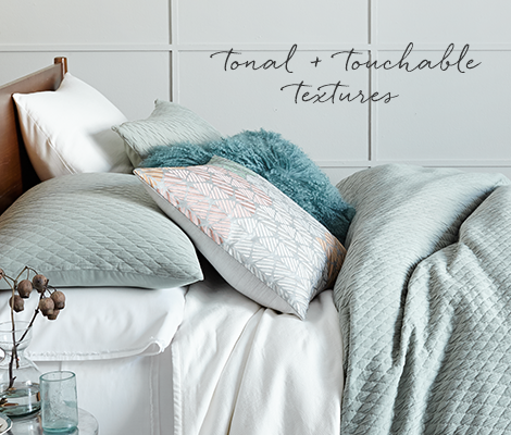 Ripple Texture Bedding - Tonal + Touchable Textures