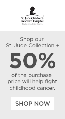 St. Jude Children's Research Hospital - Shop our St. Jude collection + 50% of the purchase price will help fight childhood cancer.