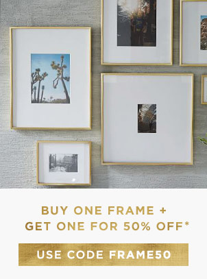 Buy One Frame + Get One For 50% Off With Code FRAME50