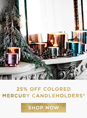 25% Off Colored Mercury Candleholders