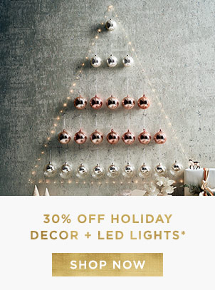 30% Off Holiday Decor + LED Lights
