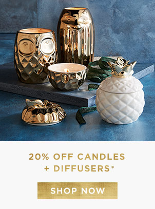 20% Off Candles + Diffusers
