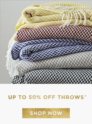 Up To 50% Off Throws