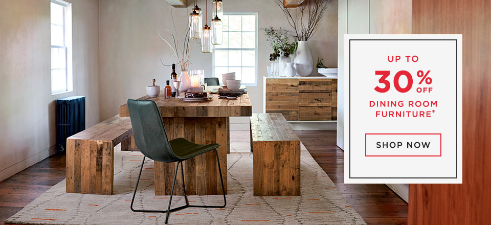 Up To 30% Off Dining Room Furniture