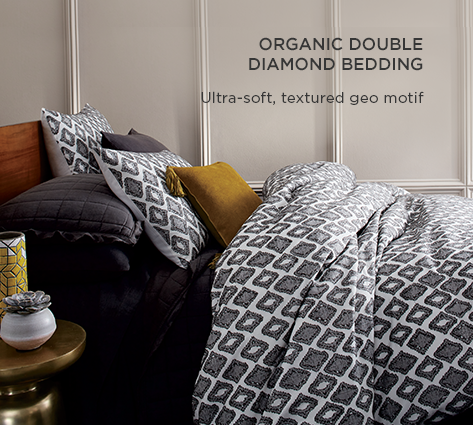 Organic Double Diamond Bedding - Ultra-Soft, Textured Goe Motif