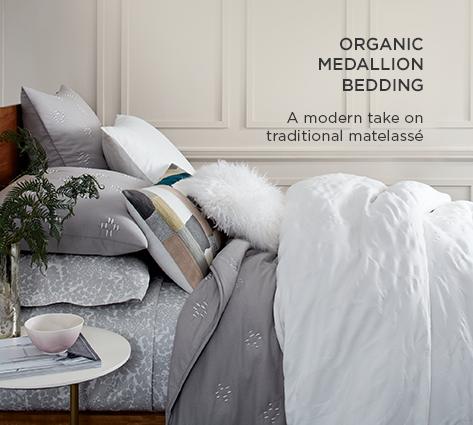 Organic Medallion Bedding - A Modern Take On Traditional Matelassé
