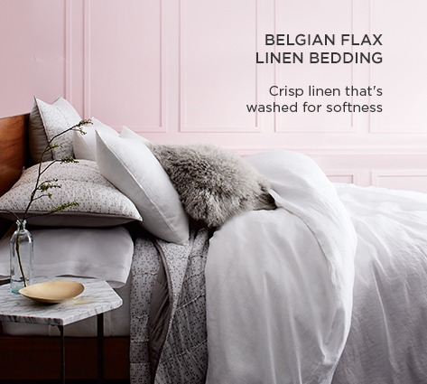 Belgian Linen Flax Bedding - Crisp Linen That's Washed For Softness