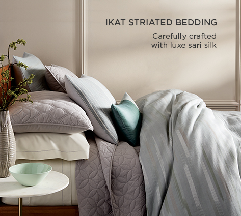 Ikat Mix Bedding - Casually Crafted With Luxe Sari Silk