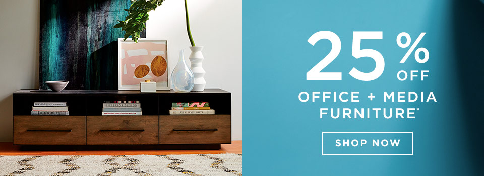 25% Off Office + Media Furniture