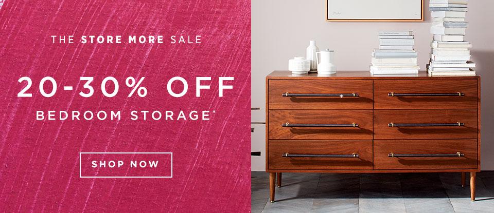 20-30% Off Bedroom Storage