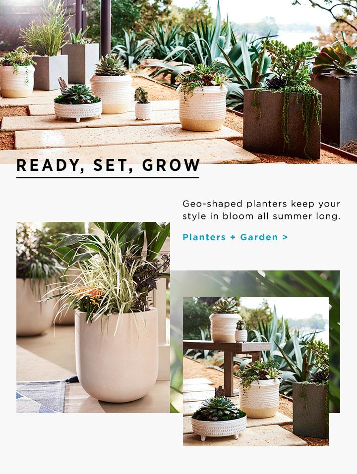 Planters + Garden