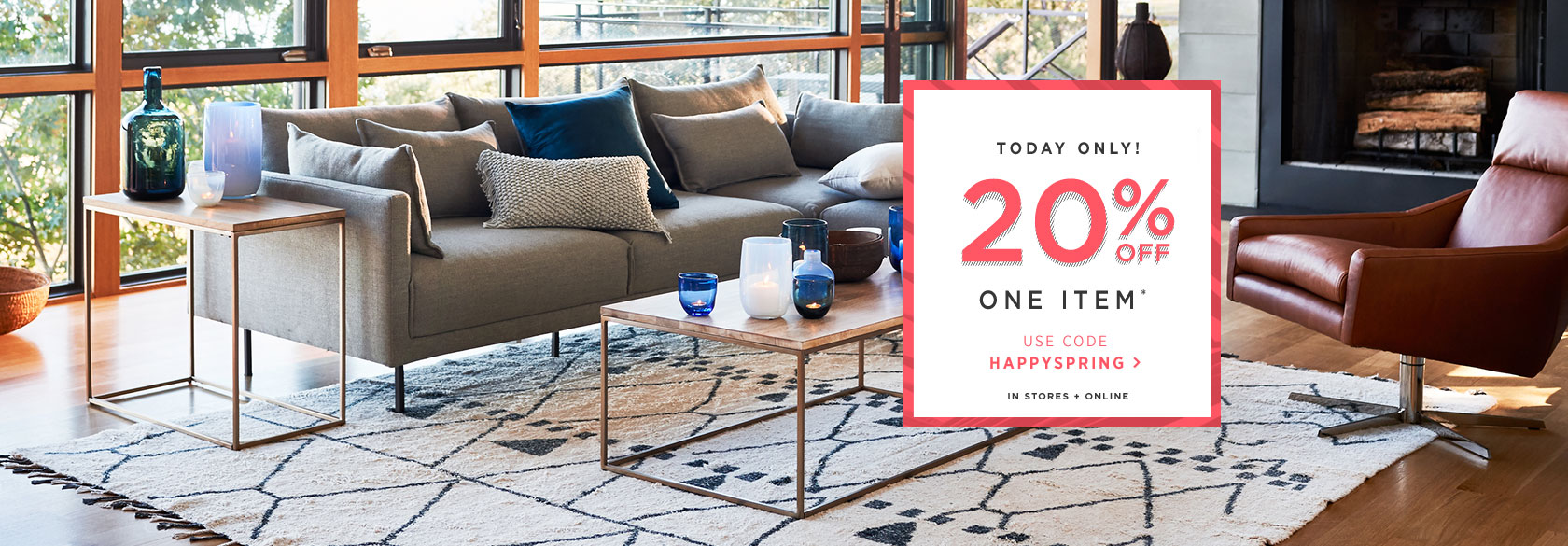 Today Only! 20% Off One Item With Code HAPPYSPRING