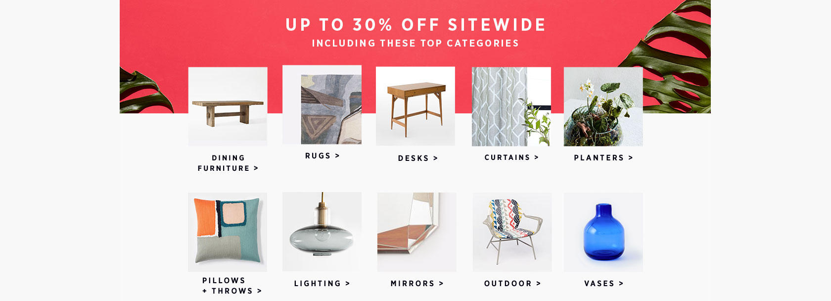 Up To 30% Off Sitewide Including These Categories