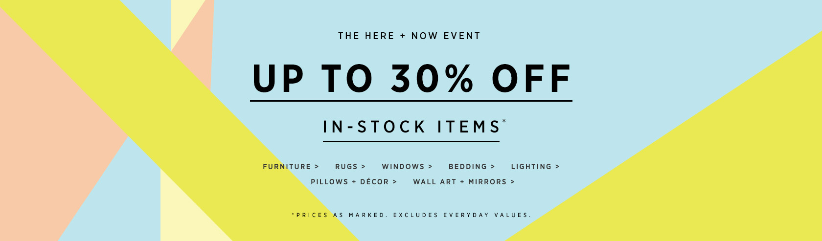 Up To 30% Off In-Stock Items