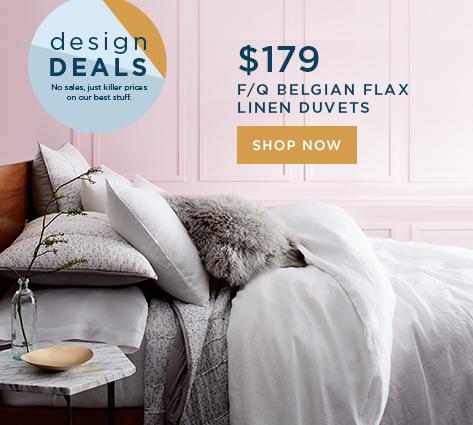 F/Q Belgian Flax Linen Duvets $179