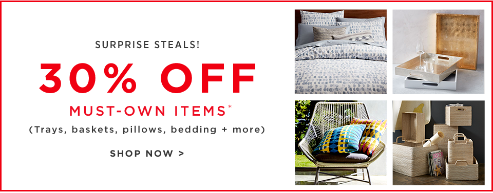 30% Off Must-Own Items